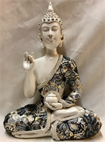 RESIN THAI BUDDHA WITH CLOTHES 23X17CM