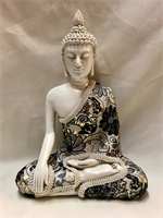 RESIN THAI BUDDHA WITH CLOTHES 20X15CM