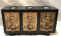 Ganesha Candle holder 28x15x7,5cm  Material: Wood & Resin